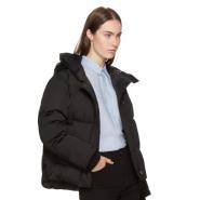 Kenzo Black Down Funnel Collar Puffer Jacket 黑色百搭羽绒服