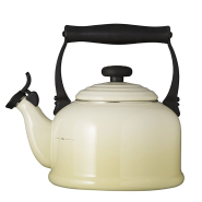 【中亚Prime会员】Le Creuset 酷彩 Tradition系列 传统鸣笛 珐琅碳钢烧水壶 2.1L 白色