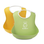 补货到!【中亚Prime会员】Baby Bjorn 婴儿软胶围兜2件装 黄色+绿色