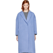 Enfold Blue Wool Loose Fit Coat 女款简约蓝色大衣