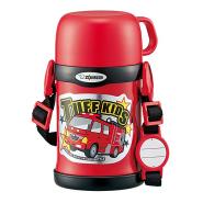 新低价!【中亚Prime会员】ZOJIRUSHI 象印 SC-ZT45 儿童保温两用杯 红色汽车款