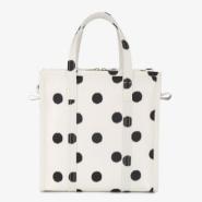 宋茜同款 Balenciaga Polka Dot Leather Bazar Shopper Tote Bag S 波点真皮 Bazar S号购物袋