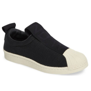 adidas Superstar Slip-On Sneaker 女款中性款一脚蹬运动鞋 黑白两色可选