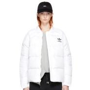 S码最后一件~adidas Originals White Down Superstar 3-Stripes Jacket 白色羽绒服
