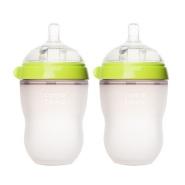 【单只仅要¥61】Comotomo 可么多么 婴儿硅胶奶瓶 绿色 250ml*2