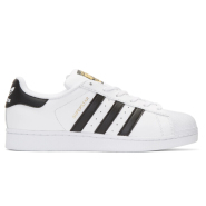 码全~~adidas Originals White & Black Superstar Sneakers 男款小白鞋