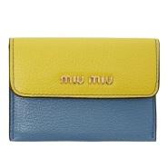 Miu Miu Tricolor Foldover Wallet 拼色真皮折叠小钱包