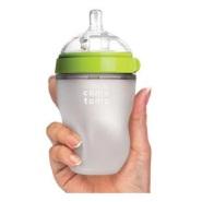 Comotomo 可么多么 自然感觉硅胶奶瓶 绿色 250ml 配中流量奶嘴(适合3-6个月)