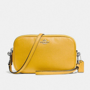 Coach Crossbody Clutch 黄色真皮小包