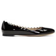 Chloé Black Patent Lauren Ballerina Flats 黑色漆皮花瓣鞋