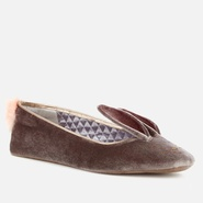 【白菜价】Ted Baker Bellamo 兔子天鹅绒平底鞋