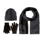 【中亚Prime会员】Timberland 男式 Tree watchcap 围巾和弹力针织手套套装