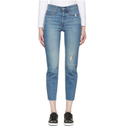 Levi's Blue Wedgie Fit Jeans 女款牛仔九分裤