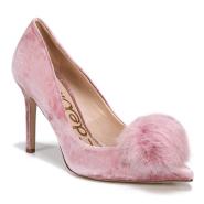 SAM EDELMAN Haroldson Pump with Faux Fur Pompom 粉色绒球装饰高跟鞋