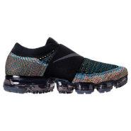 酷炫酷炫!Nike 耐克 Air VaporMax Flyknit MOC 无绑带男士跑鞋 黑色