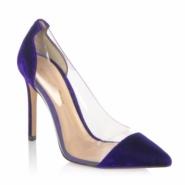 【独家款】Gianvito Rossi Plexi & Velvet 女士高跟鞋