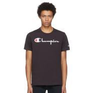 Champion Reverse Weave Black Logo T-Shirt 男款黑色T恤