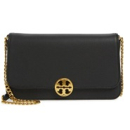 Tory Burch Chelsea Convertible Leather Clutch 黑色真皮链条包