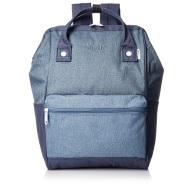 【中亚Prime会员】anello 蓝色涤纶纹理双肩包