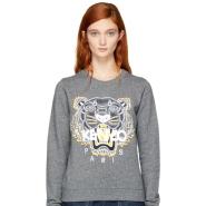 Kenzo Grey Tiger Sweatshirt 灰色虎头卫衣