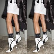 蕾哈娜合作款!【中亚Prime会员】大码福利~Puma 彪马 皮制绑带高跟短靴