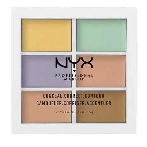 【补货】NYX Professional Makeup 6色修容遮瑕盘