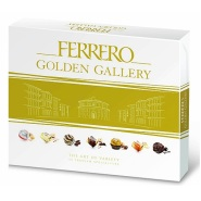 【中亚Prime会员】Ferrero 费列罗 金色画廊 多种巧克力礼盒装 42块 401g