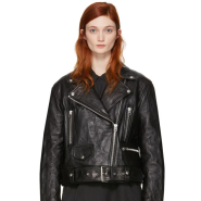 Acne Studios Black Leather Merlyn Jacket 女款黑色机车夹克
