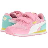 10 toddler 最后一双~Puma Kids Cabana Racer Mesh V Inf  女童款运动鞋
