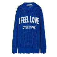 【反向海淘更划算!】Givenchy 纪梵希 Oversized distressed intarsia crocheted 女士棉质卫衣