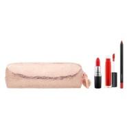 MAC snow ball 红色唇部产品套组