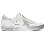 Golden Goose White Sparkle Superstar Sneakers 男款小脏鞋