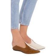 【还有37最后一双】 Burch 姐妹花品牌 Trademark Lewitt 拼色鳄鱼纹皮制穆勒鞋