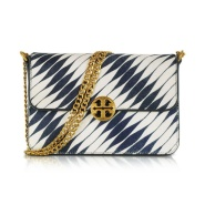 【4.4折好价!限时高返】Tory Burch Chelsea Twisted Stripe Calf Hair 女士单肩包