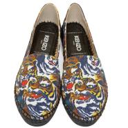 相当于不要钱~Kenzo Multicolor Flying Tiger Espadrilles 女款老虎图案草地鞋