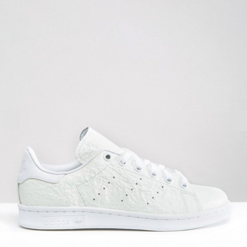 史低价!adidas Originals 阿迪达斯 Off White Textured 女士褶皱款小白鞋
