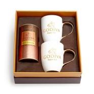 【5折】Godiva 歌帝梵 牛奶巧克力热可可&马克杯礼盒 金丝带