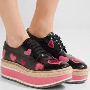 【手慢无!】Prada 普拉达 Appliquéd 女士爱心真皮厚底鞋