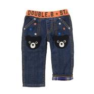 低至5折!!【Mikihouse Official Online Shop】Mikihouse—DOUBLE_B 卡通熊儿童牛仔裤