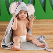 【中亚Prime会员】Baby Aspen 大象婴儿连帽浴袍