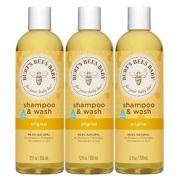【中亚Prime会员】Burt's Bees 婴儿洗发水&沐浴露 350ml*3瓶