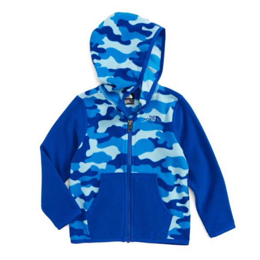 The North Face 'Glacier' Zip Hoodie 小童款抓绒衣