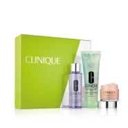 Clinique 倩碧 眼唇卸妆+水磁场面霜+液体洁面皂旅行套组