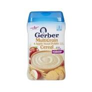【立减$7+免邮中国】Gerber 嘉宝 苹果甜薯混合谷物米粉 二段宝宝辅食 227g