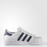 """黑色金标涨价了,那就买这个! Adidas Originals 三叶草""""superstar"""" 蓝色金标运动鞋"""