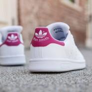 超低价!【美亚自营】Adidas Originals 三叶草 Stan Smith C Little Kid 童款粉尾运动鞋