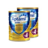 【包邮套装】Aptamil 澳洲爱他美 金装加强型婴幼儿配方奶粉 4段 2岁+ 900g*2件