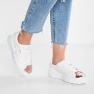 【美亚自营】PUMA Basket Platform Metallic 女款金属头运动鞋