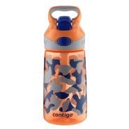 【中亚Prime会员】Contigo 康迪克 一键开启密封儿童吸管杯水杯 400ml 橙色款