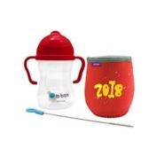 【立减8澳】B.box 婴幼儿重力球吸管杯 中国红限量礼盒